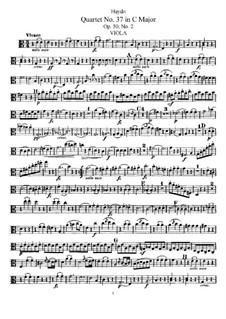 String Quartet No.37 in C Major, Hob.III/45 Op.50 No.2: Viola part by Joseph Haydn