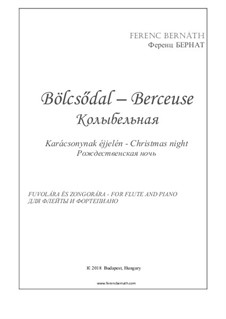 Berceuse 'Christmas night': For flute and piano by Ferenc Bernath
