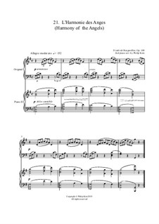 No.21 L'Harmonie des Anges: For two pianos by Johann Friedrich Burgmüller
