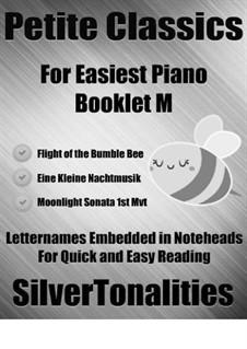 Petite Classics for Easiest Piano Booklet M: Petite Classics for Easiest Piano Booklet M by Wolfgang Amadeus Mozart, Ludwig van Beethoven, Nikolai Rimsky-Korsakov