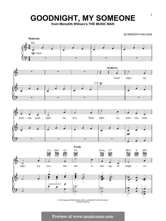Goodnight, My Someone: For voice and piano by Meredith Willson