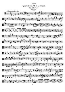 String Quartet No.48 in C Major, Hob.III/65 Op.64 No.1: Viola part by Joseph Haydn