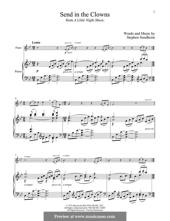 Send in the Clowns (from A Little Night Music): For flute and piano by Stephen Sondheim