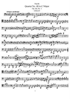 String Quartet No.48 in C Major, Hob.III/65 Op.64 No.1: Cello part by Joseph Haydn