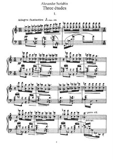 Three Etudes, Op.65: Complete set by Alexander Scriabin