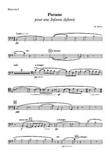 Pavane pour une infante défunte (Pavane for a Dead Princess), M.19: Bassoon I part by Maurice Ravel