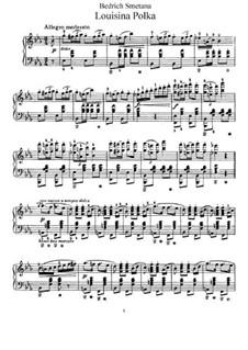 Louisina Polka, T.4: For piano by Bedřich Smetana