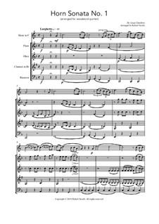 Horn Sonata No.1: For wind quintet by Luigi Cherubini