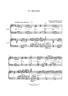 No.22 Barcarolle: For two pianos by Johann Friedrich Burgmüller