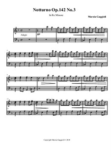 Notturnos, Op.142: Notturno No.3 in Re Minore by Marzia Gaggioli