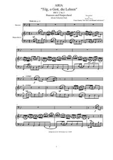 20 Arias from Cantatas for Bassoon and Harpsichord: Aria (Tilg' Gott, die Lehren), BWV 2 No.3 by Johann Sebastian Bach