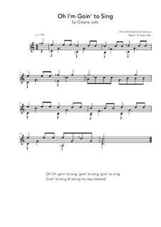 Oh I'm Goin' to Sing: Oh I'm Goin' to Sing by folklore