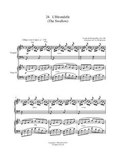 No.24 L'Hirondelle: For two pianos by Johann Friedrich Burgmüller