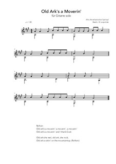 Old Ark's a Moverin': For guitar solo (A Major) by folklore
