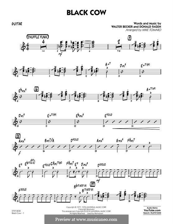 Black Cow (Steely Dan): For guitar by Donald Fagen, Walter Becker