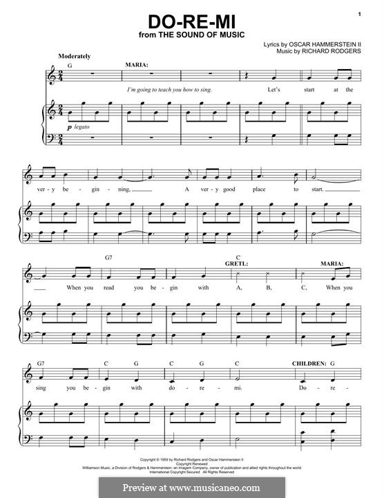 Do-Re-Mi (from The Sound of Music): For voice and piano by Richard Rodgers
