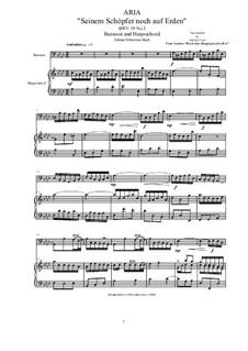 20 Arias from Cantatas for Bassoon and Harpsichord: Aria (Seinem Schöpfer noch auf Erden), BWV 39 No.3 by Johann Sebastian Bach