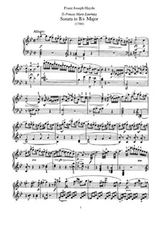 Sonata for Piano No.55 in B Flat Major, Hob.XVI/41: For a single performer by Joseph Haydn