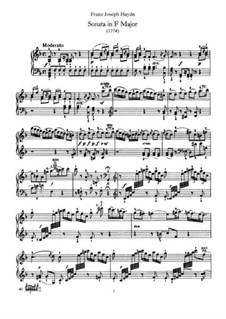 Sonata for Piano No.44 in F Major, Hob.XVI/29: For a single performer by Joseph Haydn