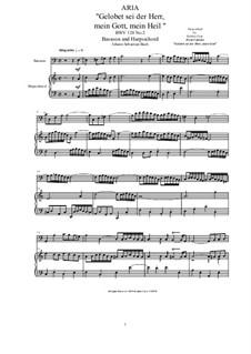 20 Arias from Cantatas for Bassoon and Harpsichord: Aria (Gelobet sei der Herr, mein Gott, mein Heil), BWV 128 No.2 by Johann Sebastian Bach