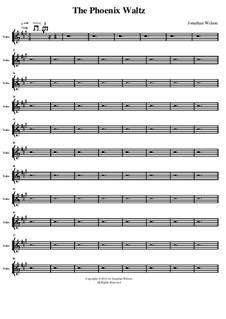 The Phoenix Waltz: Violin part by Jonathan Wilson