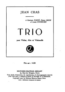 Trio for Strings in A Major: Full score by Jean Cras