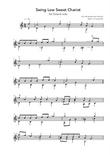 Swing Low, Sweet Chariot: For guitar by folklore