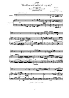 20 Arias from Cantatas for Bassoon and Harpsichord: Aria (Doch bin und bleibe ich vergnügt), BWV 150 No.3 by Johann Sebastian Bach