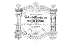 Twelve Waltzes, Op.23: For piano four hands by Theodor Kirchner