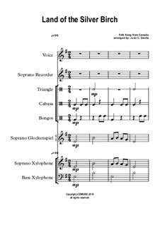 Land of the Silver Birch: For orff ensemble by folklore