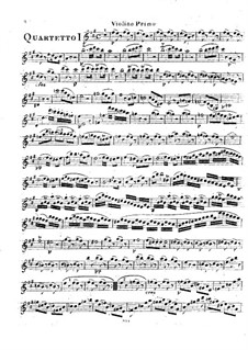 Six String Quartets, Op.2: Quartets No.1-3 – violin I part by Rodolphe Kreutzer