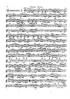 Six String Quartets, Op.2: Quartets No.4-6 – violin I part by Rodolphe Kreutzer
