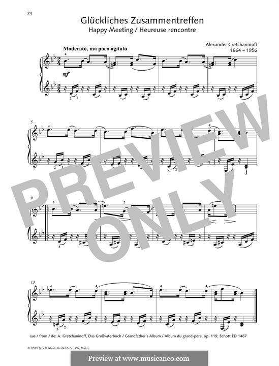 Happy Meeting: For piano by Alexander  Grechaninov