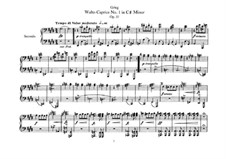 Deux valse caprices, Op.37: For piano four hands by Edvard Grieg