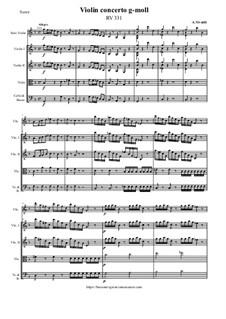 Violin concerto g-moll, RV 331: Violin concerto g-moll by Antonio Vivaldi