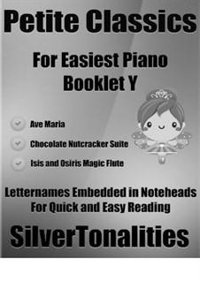 Petite Classics for Easiest Piano Booklet Y: Petite Classics for Easiest Piano Booklet Y by Franz Schubert, Ludwig van Beethoven, Pyotr Tchaikovsky