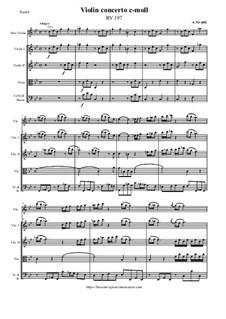 Violin concerto c-moll, RV 197: Violin concerto c-moll by Antonio Vivaldi