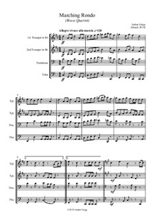 Marching Rondo: For brass quartet by Jordan Grigg