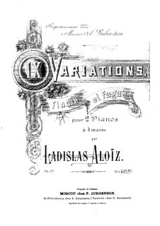 Nine Variations, Final and Fugue, Op.28: Piano I part by Ladislas Aloïz