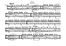 Six Easy Pieces for Piano Four Hands, J.9–14 Op.3: No.3 Menuetto by Carl Maria von Weber