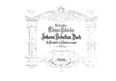 Selected Pieces: Arrangement for piano four hands by Johann Sebastian Bach