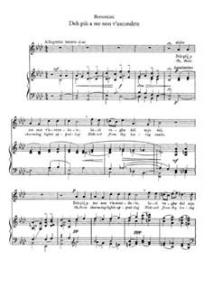 Deh più a me non v'ascondete: For voice and piano by Giovanni Maria Bononcini