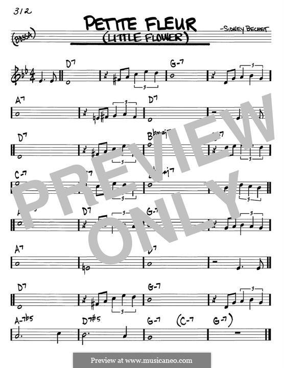 Petite Fleur (Little Flower): For guitar by Sidney Bechet