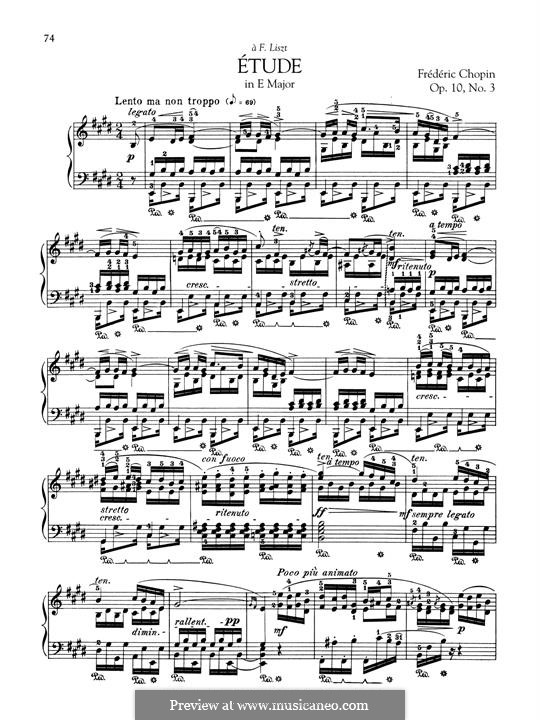 No.3 in E Major: For piano by Frédéric Chopin