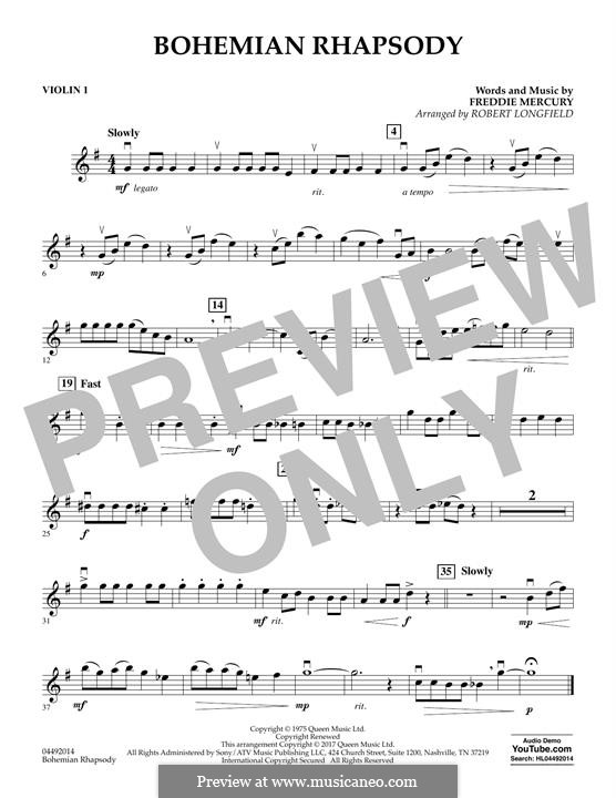 Bohemian Rhapsody (Queen): Violin 1 part by Freddie Mercury