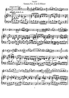 Sonata for Flute and Harpsichord in G Minor, HWV 360 Op.1 No.2: Score by Georg Friedrich Händel