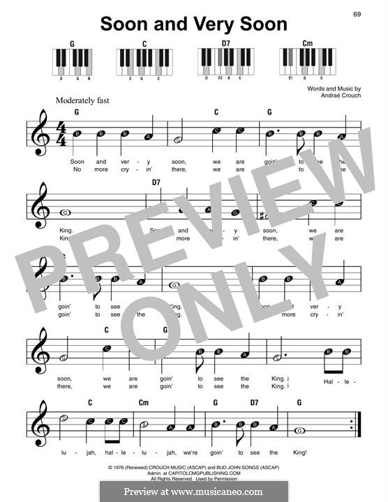 Soon and Very Soon: For piano by Andrae Crouch