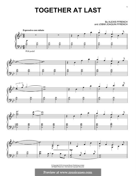 Together at Last: For piano by Alexis Ffrench