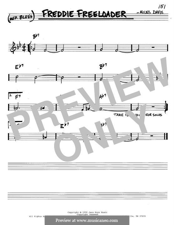 Freddie Freeloader: For instrument in B Flat by Miles Davis