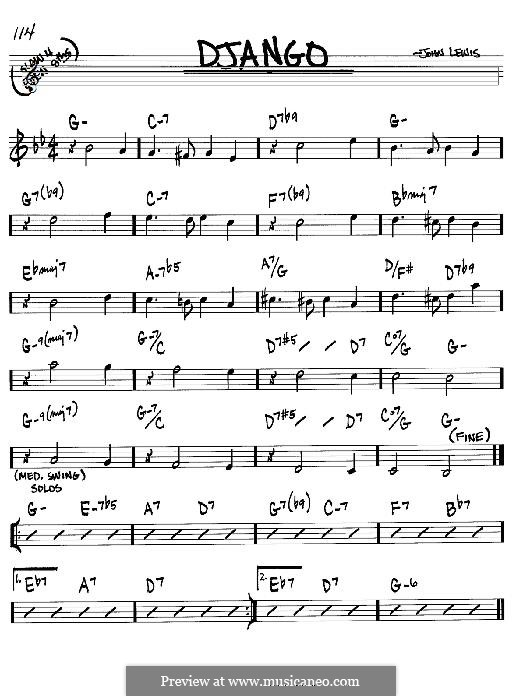Django: For instrument in B Flat by John Aaron Lewis